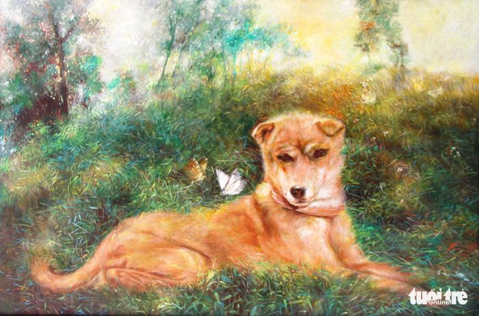 Kết quả hình ảnh cho tranh chó